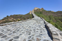 Cobblestone path up to the great Wall, Beijing, China Royalty Free Stock Photo