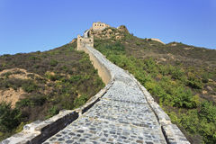 Cobblestone path up to the great Wall, Beijing, China Stock Photos