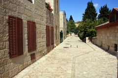 Cobblestone Path - Wide Angle Stock Image