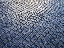 Cobblestone Pattern With Light Royalty Free Stock Photos