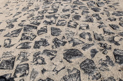 Cobblestone pattern on a summer day Stock Photo