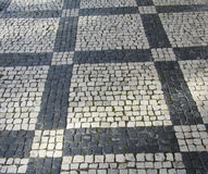 Cobblestone patterned street Stock Photography