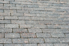 Cobblestone pavement Stock Images