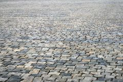 Cobblestone pavement. As a background Stock Photo