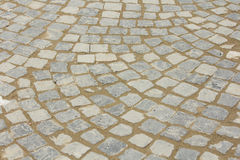 Cobblestone pavement. Abstract background of cobblestone pavement royalty free stock photos