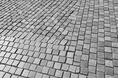 Cobblestone pavement, background texture Stock Photo