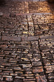 Cobblestone Pavement Close Up Background Royalty Free Stock Photo
