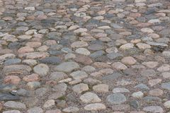 Cobblestone pavement. In the old town Stock Image