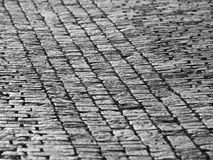 Cobblestone pavement in historial centre of city Stock Photos