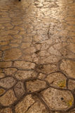 Cobblestone pavement in Palma de Mallorca Royalty Free Stock Photography