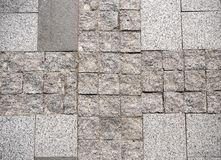 Cobblestone pavement with pattern Royalty Free Stock Photos