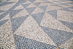 Cobblestone pavement with pattern Stock Image