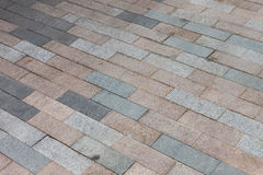 Cobblestone pavement road Royalty Free Stock Photo