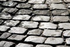 Cobblestone. Pavement cobblestone in a square of rome Stock Photo