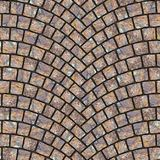 Arched cobblestone pavement texture 043. Cobblestone pavement street with arched pattern. Seamless tileable repeating square 3D rendering texture Stock Photography