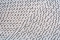 Cobblestone pavement texture, top view royalty free stock photography