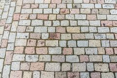 Cobblestone pavement on street in Prague Royalty Free Stock Photos