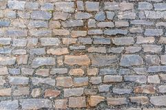 Cobblestone pavement on street in Prague Stock Photo