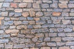 Cobblestone pavement on street in Prague Stock Photo