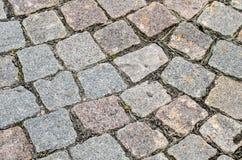 Cobblestone Pavement Texture Background Stock Photography