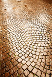 Cobblestone pavement in Verona Royalty Free Stock Images
