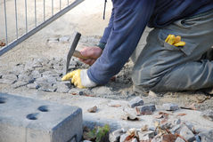 Cobblestone paver Royalty Free Stock Images