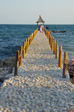 Cobblestone pier on the black sea coast Stock Photography