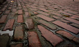 Cobblestone after rain Stock Photo