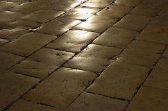 Cobblestone with reflection Stock Photography