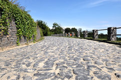 Cobblestone road. Summer of 2010 in Badacsony, Cobblestone road royalty free stock images
