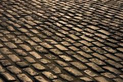 Cobblestone Road stock image