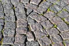 Cobblestone road background Royalty Free Stock Image
