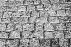 Cobblestone road. Grey Cobble stone road background Stock Images