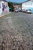 Cobblestone road Pirenopolis city Brazil Stock Photo