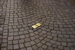Cobblestone, Road Surface, Grass, Pattern royalty free stock images