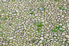 Cobblestone road, top view Royalty Free Stock Photos