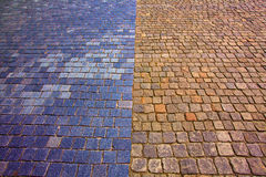 Cobblestone roads Stock Images