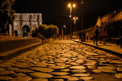 Cobblestone Roadway Royalty Free Stock Images