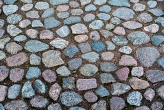 Cobblestone roadway texture Stock Images