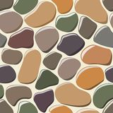 Cobblestone seamless background. Royalty Free Stock Photography