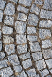 Cobblestone sidewalk gray surface clay Stock Photography