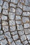 Cobblestone sidewalk gray surface clay Stock Photography