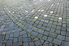 Cobblestone sidewalk made of cubic stones 9 Stock Photo