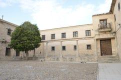 Stone plaza in Belmonte Royalty Free Stock Photo