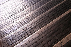 Cobblestone stairs Royalty Free Stock Photography