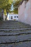 Cobblestone stairs Royalty Free Stock Photos