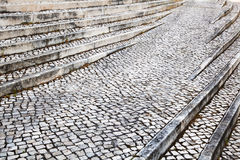 Cobblestone stairs Royalty Free Stock Image