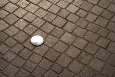 Cobblestone and steel Royalty Free Stock Photos