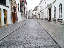 Cobblestone street. A street in Breda in the province of Brabant, Netherlands Stock Photo