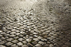 Cobblestone on street Royalty Free Stock Photo